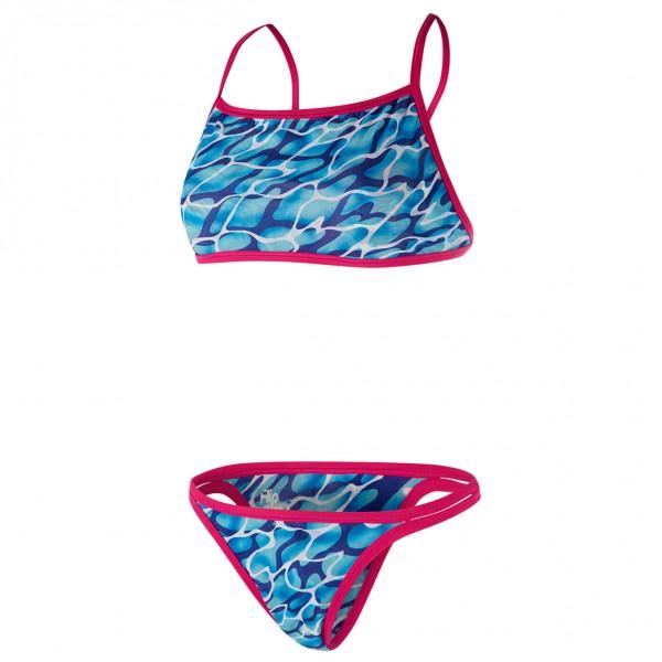 Speedo Kid�s Waterflow-Fireglam Flip Reverse 2 Piece maat 32 roze-blauw