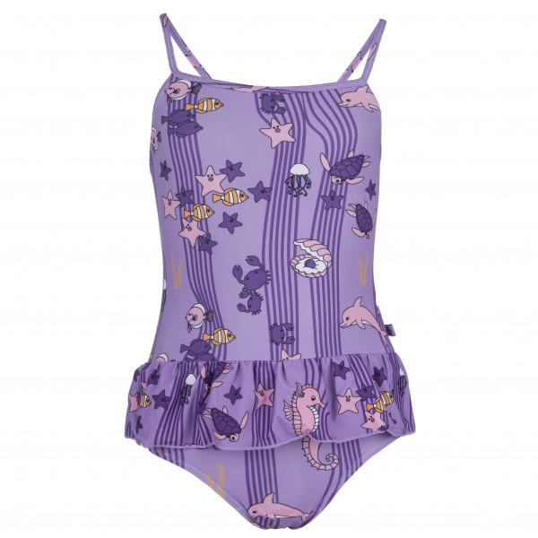 Smafolk - Kid´s UV50 Swimsuit with Skirt and Ocean - Badeanzug Gr 7-8 Years lila/grau/rosa Preisvergleich