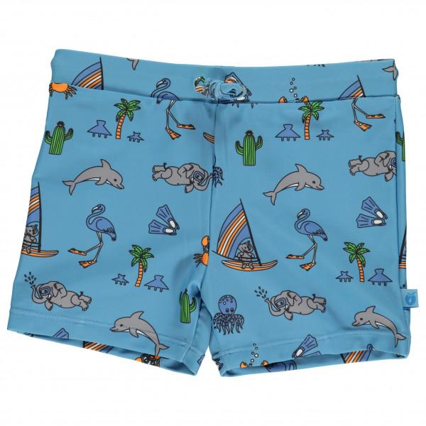 Smafolk - Kid's UV50 Swimpants with Short Leg and Seaworld - Badehose Gr 3-4 Years blau 01-9931702