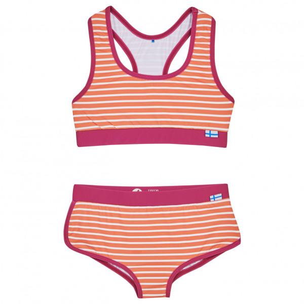 #Finkid – Kid's Luoto – Bikini Gr 100/110;110/120;120/130;130/140;140/150;80/90;90/100 blau/grau;rosa/rot#