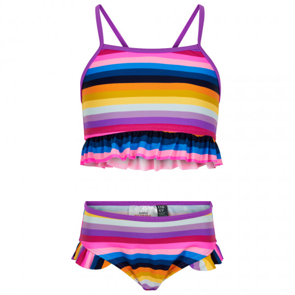 Color Kids - Kid's Bikini Frills - Bikini Gr 104;116;128;140;152;92 rosa/blau 720013