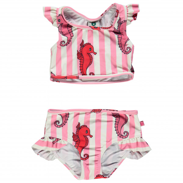 Smafolk - Kid's Bikini Seahorses - Bikini Gr 3-4 Years rosa/grau/weiß 11-9920526003