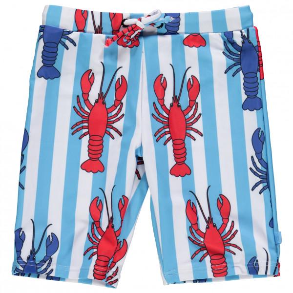 Smafolk - Kid's Swim Shorts Long Lobster - Badehose Gr 5-6 Years grau/blau/türkis 11-9930723005