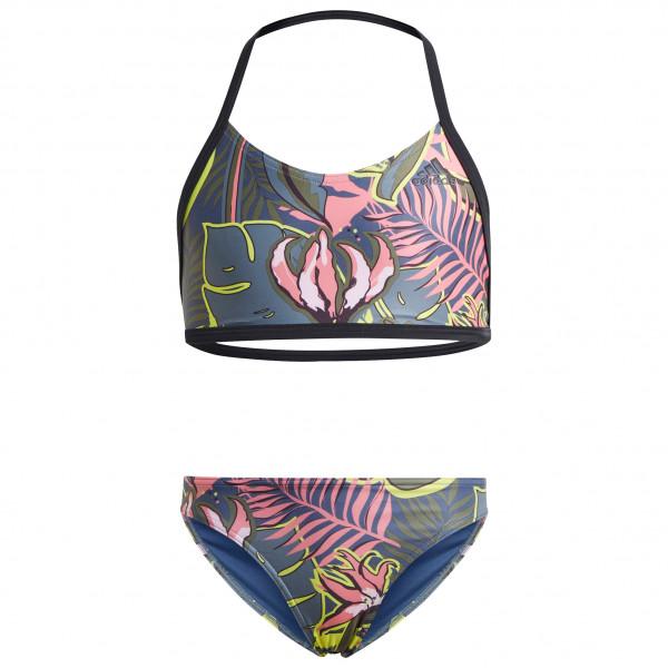 adidas - Girl's YG Flower Bikini - Bikini Gr 128 grau/schwarz GN5861