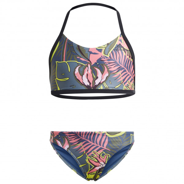 adidas - Girl's YG Flower Bikini - Bikini Gr 110;116;128;164 türkis/grau;grau/schwarz JLO36