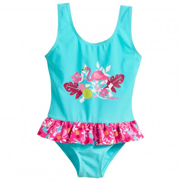Playshoes - Kid's UV-Schutz Badeanzug Flamingo - Badeanzug Gr 110/116;98/104 türkis/rosa 461203
