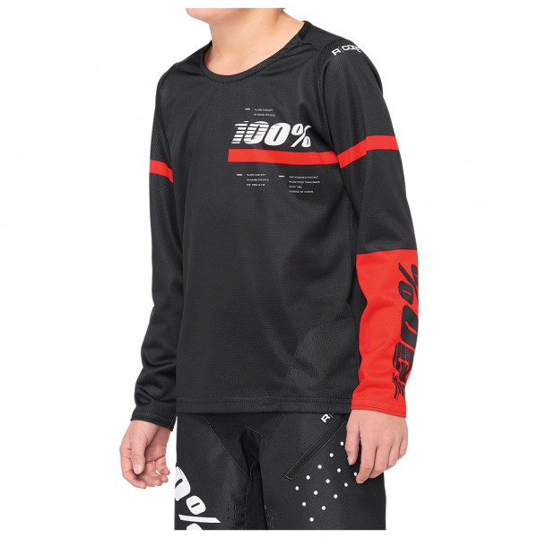 100% - Kid`s R Core DH Youth Jersey - Cycling jersey size M, black