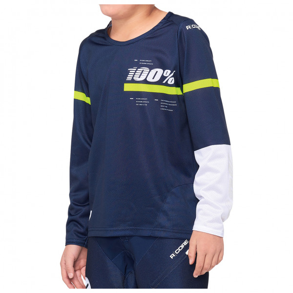 100% - Kid`s R Core DH Youth Jersey - Cycling jersey size L, blue