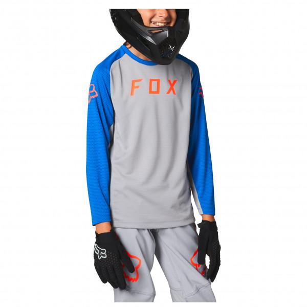 Fox Racing - Kids Defend L/s Jersey - Cycling Jersey Size L  Grey/blue/black