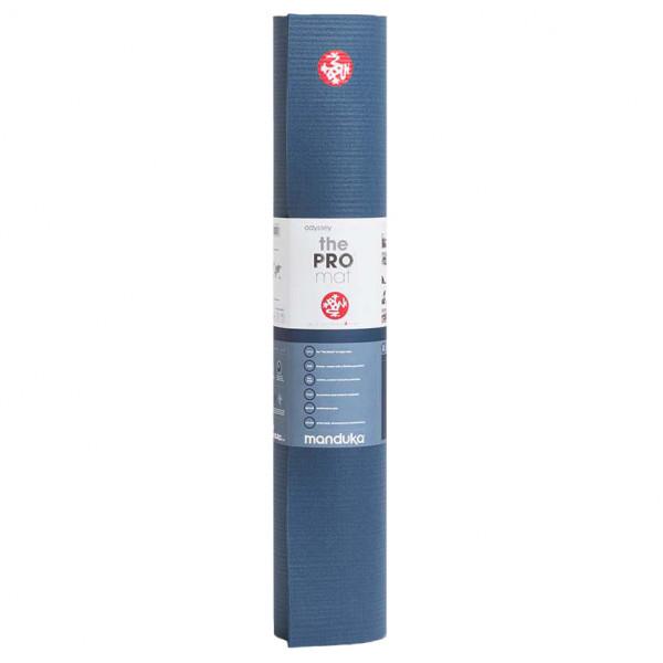 Manduka - Manduka PRO - Yogamatte Gr 180 cm - 6 mm blau/schwarz 111011P00