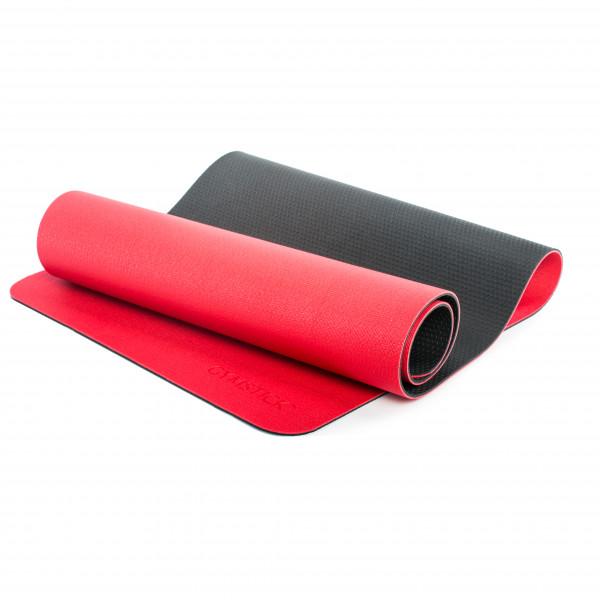 Gymstick - Yogamatte Pro - Yogamatte Gr 190 x 61 cm rot/schwarz CS-2231