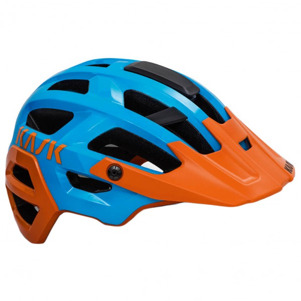 Kask - Rex - Casco de ciclismo size M - 48-58 cm, azul/naranja/negro