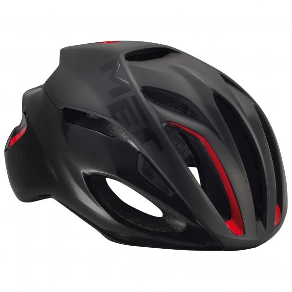 MET - Rivale - Casco de ciclismo size 52-56 cm - S;54-58 cm - M;59-62 cm - L, negro;negro/gris/azul