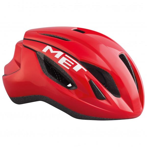 MET - Strale - Casco de ciclismo size 52-56 cm - S;56-58 cm - M;59-62 cm - L, gris/negro;negro;negro/rojo
