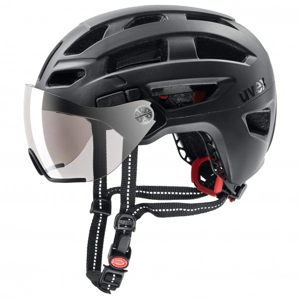 Uvex - Finale Visor - Casco de ciclismo size 52-57 cm, negro/gris