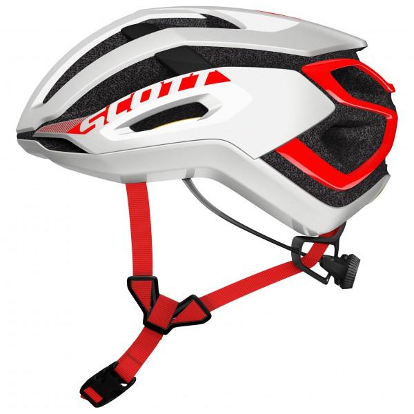Scott - Helmet Centric Plus - Radhelm Gr L grau/schwarz/weiß/rot