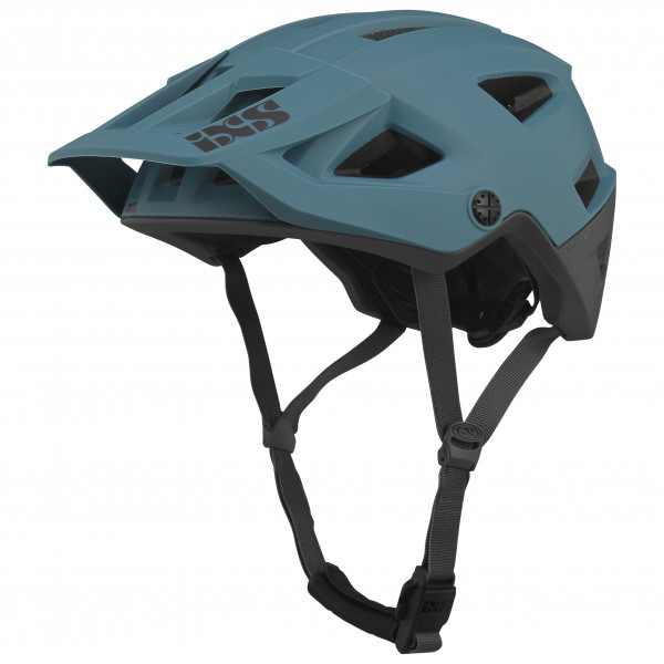 iXS - Trigger AM Helmet - Casco de ciclismo size M/L, negro/turquesa/gris