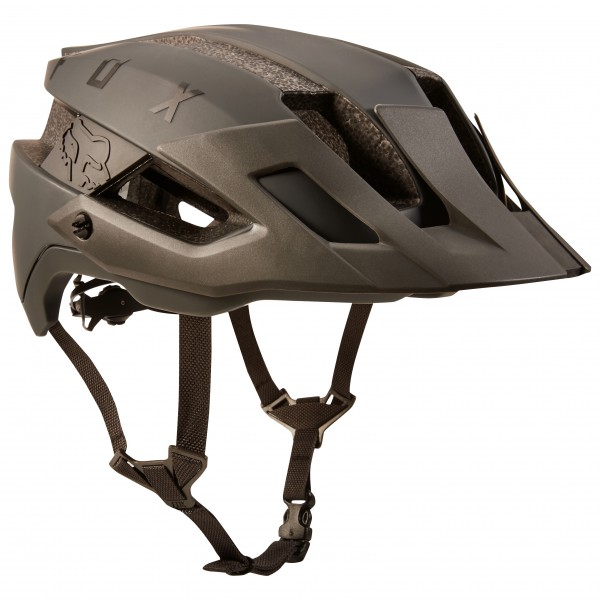 FOX Racing - Flux Helmet Solid - Casco de ciclismo size L/XL;S/M;XS/S, gris;marrón/gris/negro;negro/gris