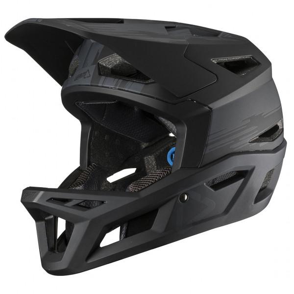 Leatt - Helmet DBX 4.0 Super Ventilated Full Face Helmet - Casco de ciclismo size XL, negro/oliva/gris