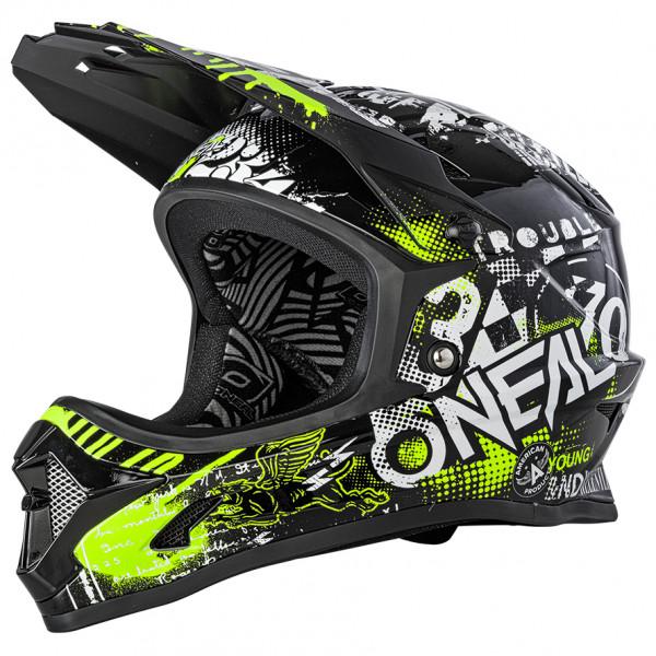 O`Neal - Backflip Helmet Attack - Casco de ciclismo size XL, negro/gris