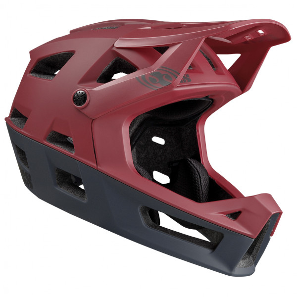 iXS - Trigger FF Helmet - Casco de ciclismo size S/M, negro/rojo