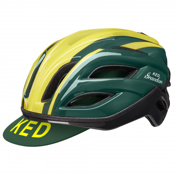 Ked - Gravelon - Bike Helmet Size L - 58-61 Cm  Olive/black/yellow