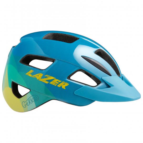 Lazer - Kids Gekko + Net - Bike Helmet Size 50-56 Cm  Turquoise/blue