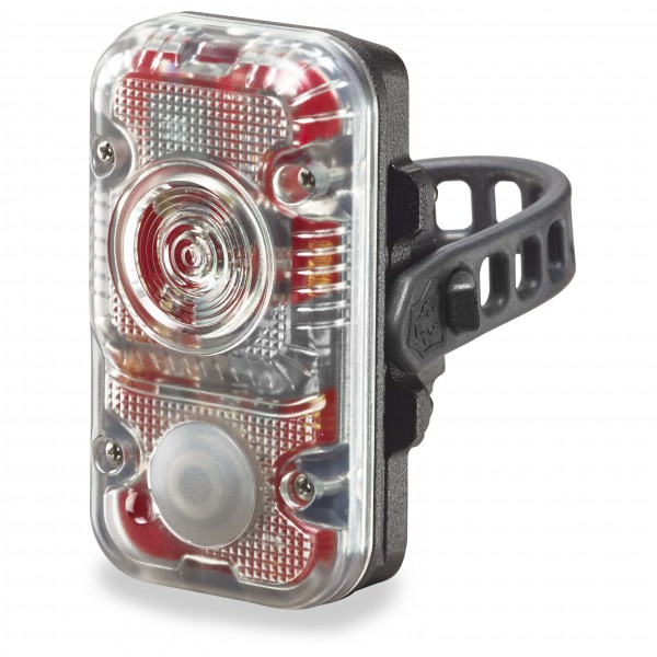 Lupine - Rotlicht 2W/160 Lumen schwarz/ transparent - broschei