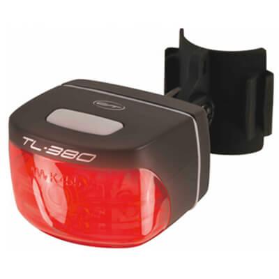 Contec Batterie-LED-Rücklicht TL-380 zwart