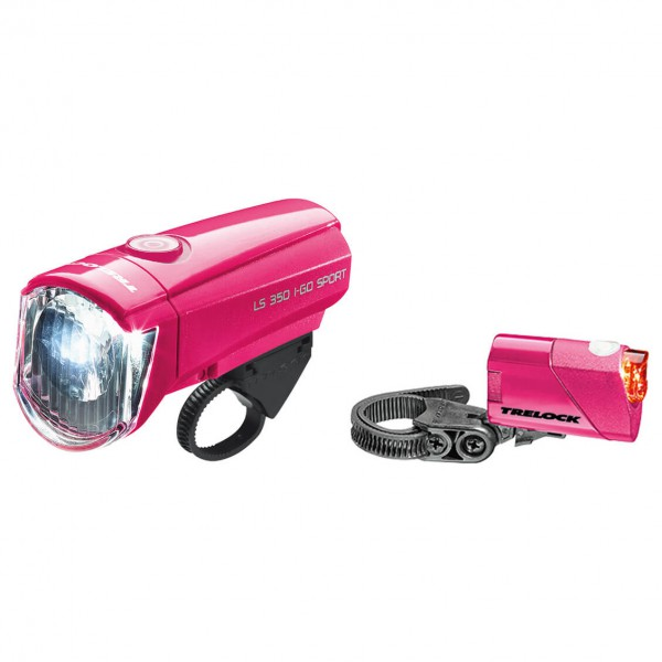 Trelock - Batterieleuchtenset LS 350/LS 710 rosa
