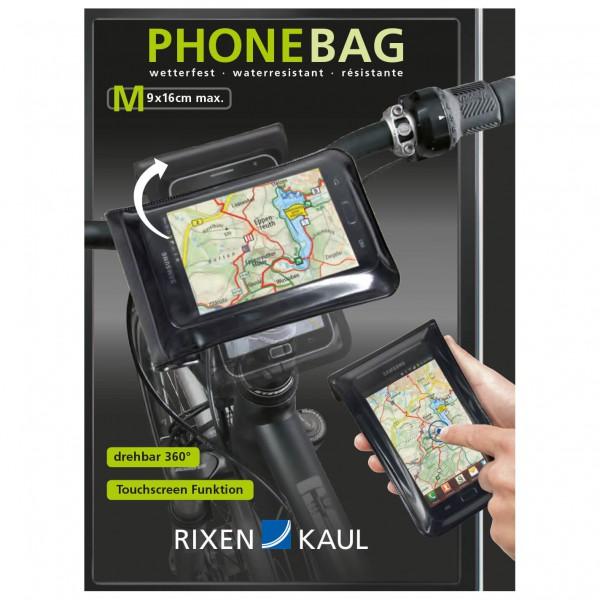 #RIXEN & KAUL – KLICKfix PhoneBag Gr S transparent /schwarz#