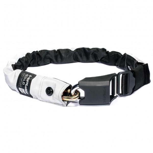 Hiplok - Gold High Wearable Visibility 10mm Chain Lock - Candado para bicicleta size 85 cm, negro/gris/blanco