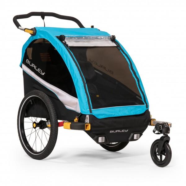 Burley - D'Lite X Aqua - Remolques para niños size One Size, negro/gris