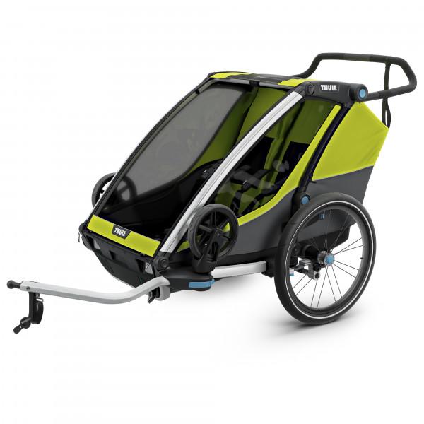 Thule - Chariot Cab2 - Remolques para niños chartreuse