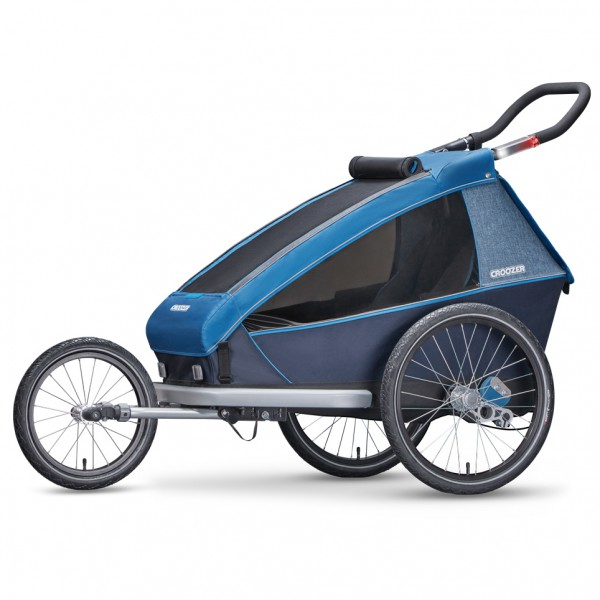 Croozer - Kid Plus For 1 2019 - Remolques para niños size One Size, negro/azul/gris