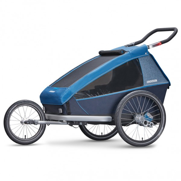 Croozer - Kid Plus For 2 2019 - Remolques para niños size One Size, negro/azul/gris