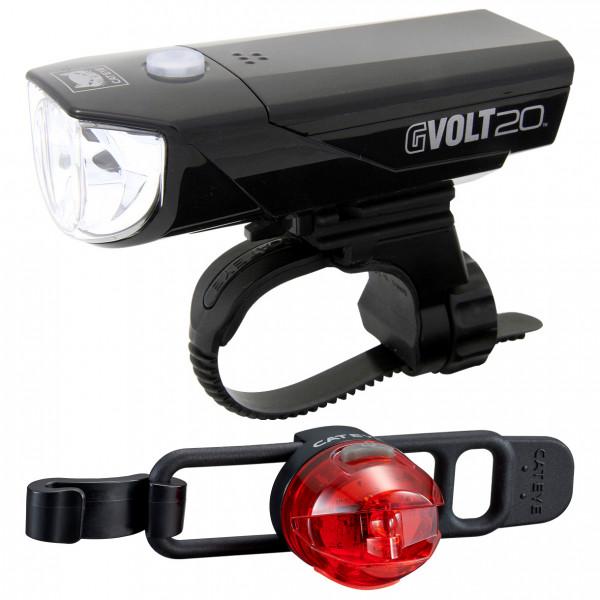 CatEye - Set GVolt20 RC + Omni3G - Fahrradlampen-Set schwarz FA003522023
