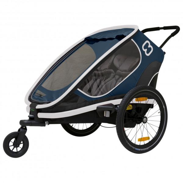 Hamax - Outback w/ Bicycle Arm & Stroller Wheel Reclining - Remorque pour enfant noir/gris