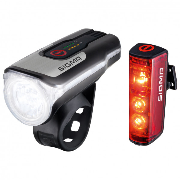 Sigma - Aura 80 USB K-Set Blaze RL - Fahrradlampen-Set schwarz/grau 17860