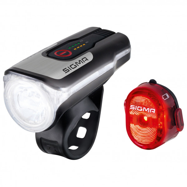 Sigma - Aura 80 USB K-Set Nugget II - Fahrradlampen-Set schwarz/grau 17850